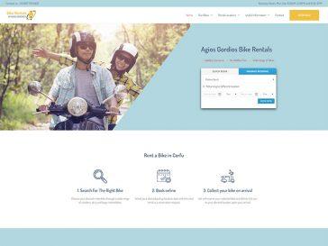 agios Gordios Bike Rentals κατασκευή ιστοσελίδας για γραφείο ενοικιάσεων