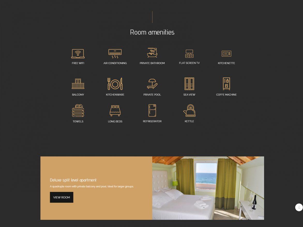 Ξενοδοχείο Agios Gordios Beach Resort κατασκευή ιστοσελίδας