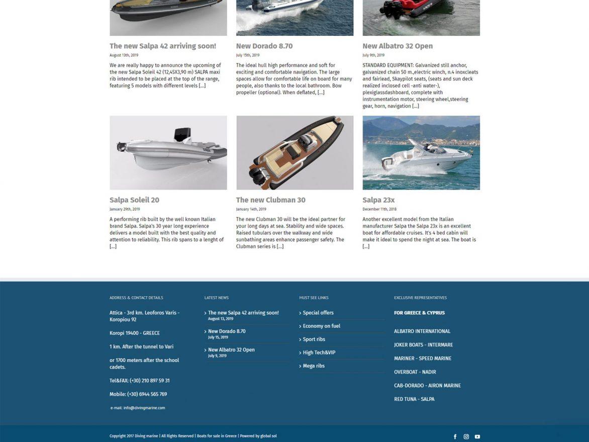Diving Marine κατασκευή ιστοσελίδας