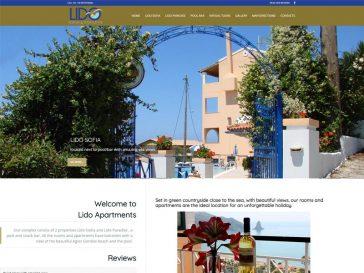 Διαμερίσματα Lido Paradise Κέρκυρα Κατασκευή Ιστοσελίδας