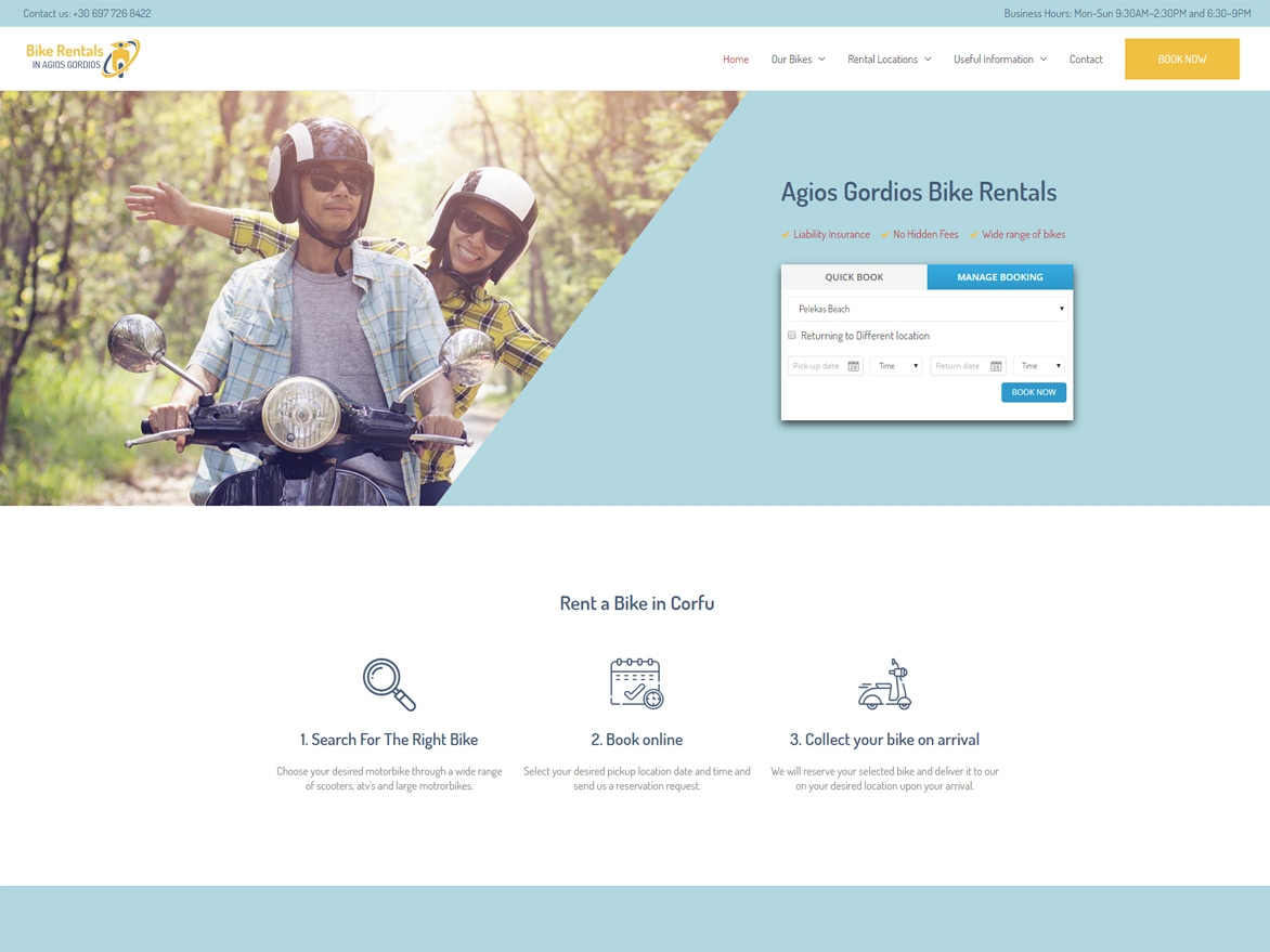 Agios Gordios Bike Rentals Project
